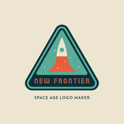 Logo Template with 60's-Style Astronomy Graphics 3451