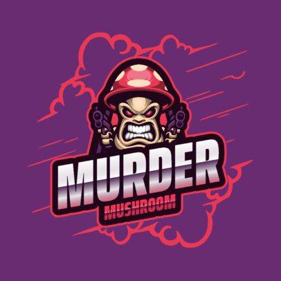Logo Template Featuring a Shooter Mushroom 2134c-el1