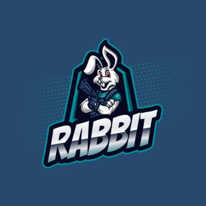 Logo Creator Featuring a Rabbit with a Gun 2134b-el1