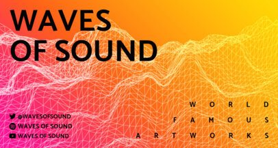Twitch Banner Maker for a Music Channel Featuring Sound Waves 2153-el1