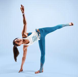 Tank Top Mockup Featuring a Woman Practicing Yoga at a Studio 38366-r-el2