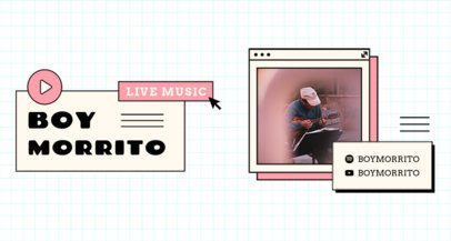 Music-Themed Twitch Banner Maker Featuring Grid Backgrounds  2152-el1