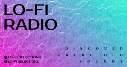 Twitch Banner Creator for a Lo-Fi Radio Channel with Ultra-Thin Waves 2153c-el1