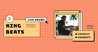 Twitch Banner Maker Featuring a Drummer's Photo 2152c-el1
