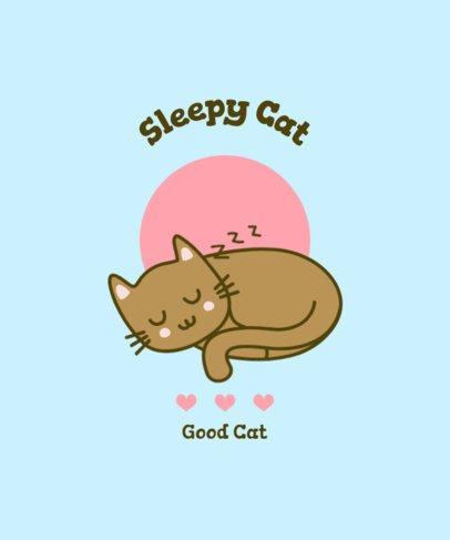 T-Shirt Design Maker Featuring a Cat Sleeping 2106c-el1