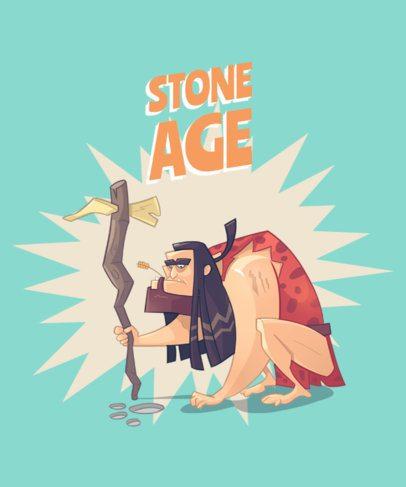 Cartoonish T-Shirt Design Creator Featuring Cavemen 2167-el1