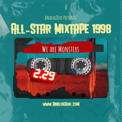 Online Mixtape Cover Generator Featuring an Old Tape  2713h