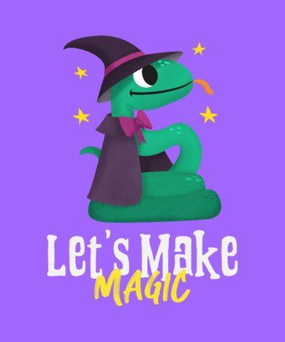 T-Shirt Design Creator Featuring a Magical Snake 2717c