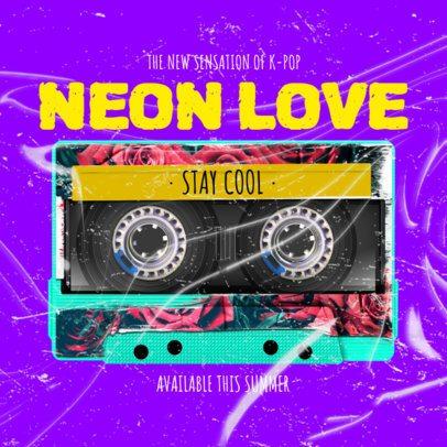 Retro-Vibe Album Cover Design Maker with Neon Colors 2713d