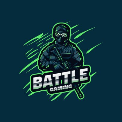 Gaming Logo Maker with Battle Soldier Characters 2129-el1