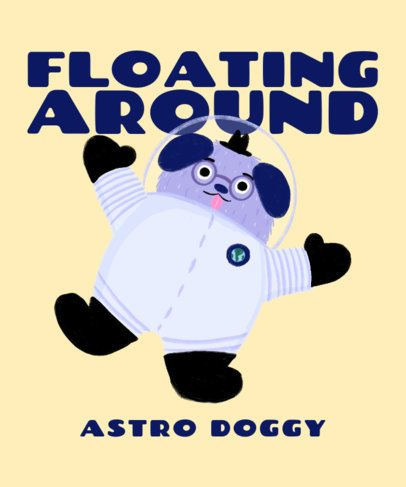 T-Shirt Design Creator for Kids with a Floating Astronaut Dog 2716f