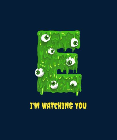 T-Shirt Design Generator with a Monstrous Letter E Graphic 2724b