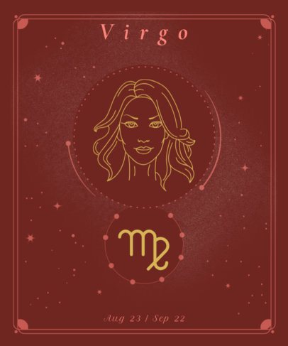 T-Shirt Design Maker Featuring a Virgo Sign and a Goddess 2722g