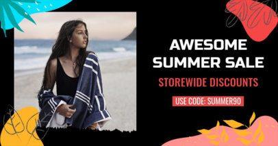 Facebook Post Generator Featuring a Summer Discount Code 2720h