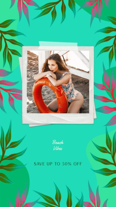 Instagram Story Design Generator Featuring Summer Pictures and Graphics 2718i