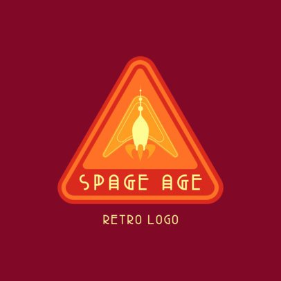 Retro Logo Template Featuring Astronomy-Themed Emblems 3451f