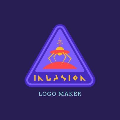 Retro Logo Generator Featuring a Spaceship Icon 3451g