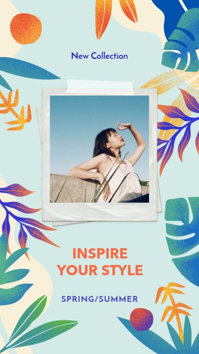 Instagram Story Generator for a Spring-Summer Fashion Collection  2718c
