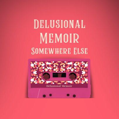 Retro Album Cover Creator Featuring Customizable Cassettes 2712c