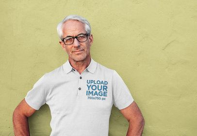 Polo Shirt Mockup Featuring a Serious Man Posing 39268-r-el2
