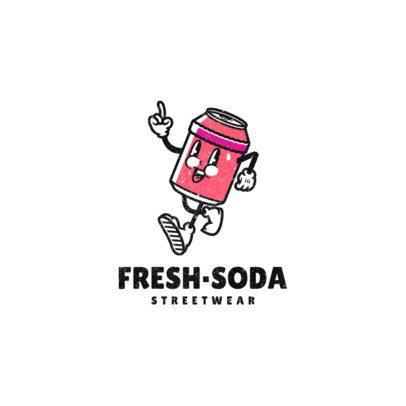 Logo Maker for an Urban Apparel Brand with a 60's Style Soda Cartoon 2239a-el1