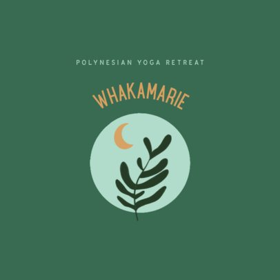 Logo Maker for a Yoga Retreat Featuring Minimal Illustrations 3465c