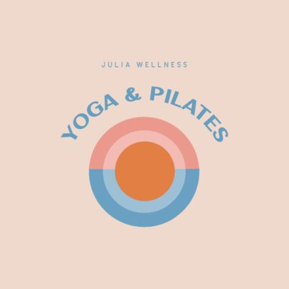 Wellness Logo Maker for a Yoga and Pilates Studio 3465f