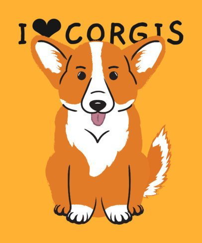T-Shirt Design Generator with a Happy Corgi Graphic 2737i