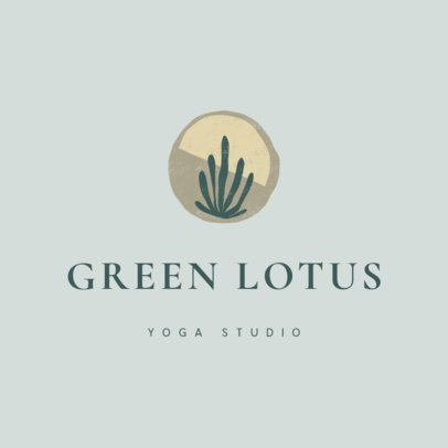 Yoga Studio Logo Maker with an Abstract Plant Illustration 3464k