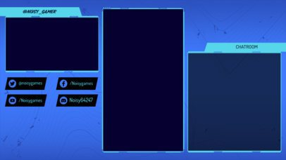 Twitch Overlay Template Featuring a Vertical Frame with a Chatroom Panel 2726f