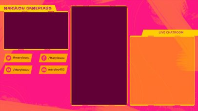 Twitch Overlay Design Creator Featuring Bright Colors for a Mobile Gaming Channel 2726j