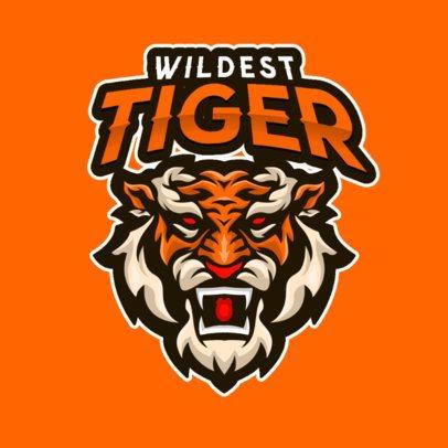 Logo Maker of an Aggressive Wild Tiger 2384c-el1
