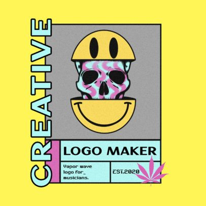 Clothing Brand Logo Maker Featuring Fragmented Illustrations 3484
