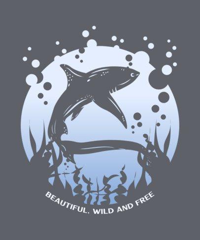 Illustrated T-Shirt Design Generator with a Swimming Shark 2393c-el1