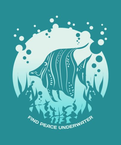 Peaceful T-Shirt Design Generator with a Fish Graphic 2393e-el1