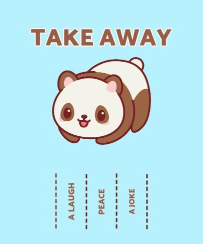 Kawaii T-Shirt Design Creator Featuring an Adorable Panda 2322b-el1