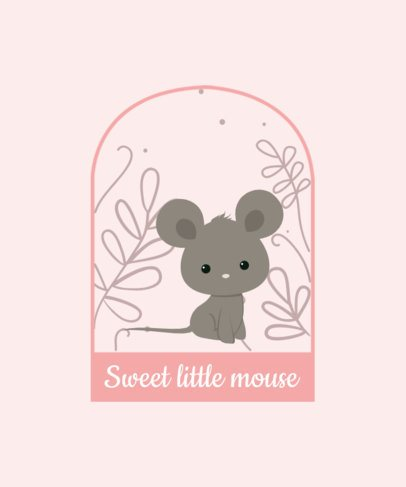 Illustrated T-Shirt Design Generator of a Sweet Mouse 2326e-el1