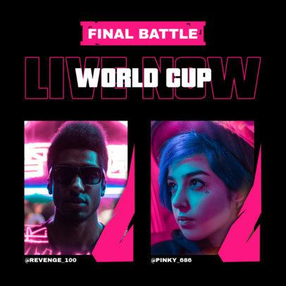 Gaming Instagram Post Generator for a Final Battle 2342d-el1