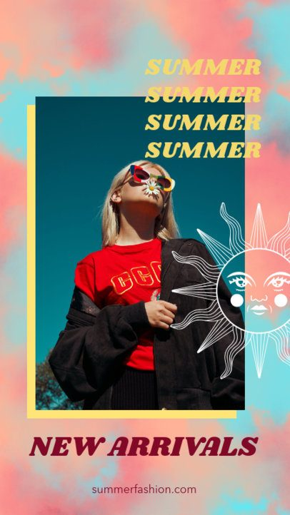 Instagram Story Generator Featuring a Tie Dye Pattern for a Summer Collection 2766b