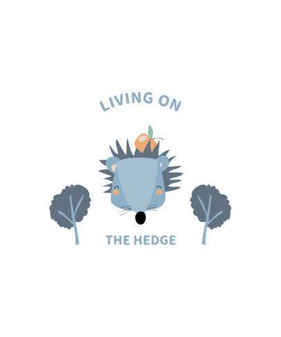 Quote T-Shirt Design Maker Featuring a Hedgehog 2326c-el1
