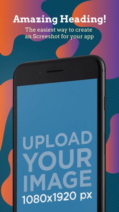 Black iPhone 7 iOS Screenshot Maker Angled