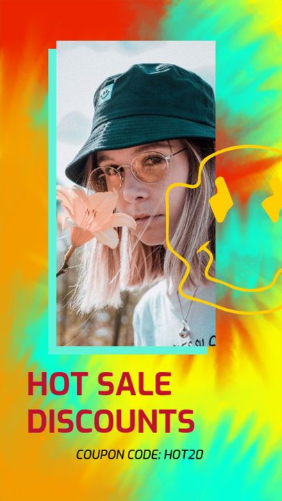 Tie Dye-Style Instagram Story Creator with a Huge Discount Coupon 2766d