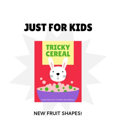 T-Shirt Design Template Featuring a Kids Cereal with a Bunny 2330e-el1