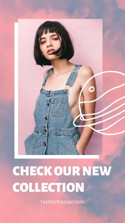 Instagram Story Maker with a Tie Dye Background for a Fashion Brand Promo 2766e