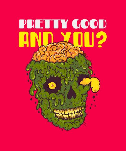 90s-Style T-Shirt Design Creator with a Disgusting Skull Graphic 2767i
