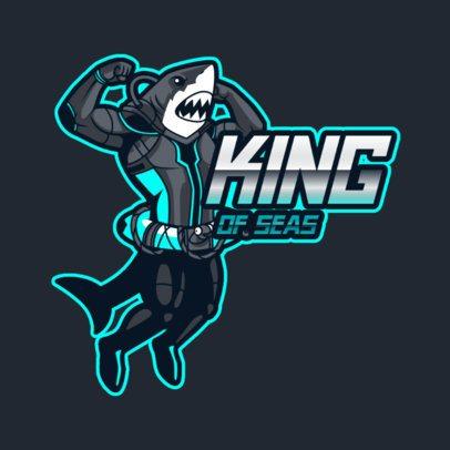 Online Logo Maker Featuring a Shark Man 3498g