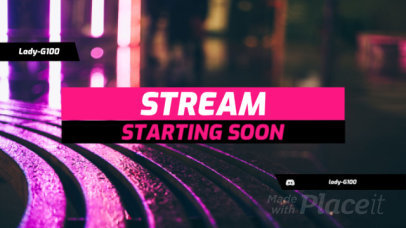 Twitch Starting Soon Screen Video Maker with a Minimalist Layout 128