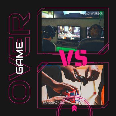Instagram Post Design Maker for a Gaming Competition 2346a-el1