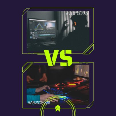 Instagram Post Generator for a 1 VS 1 Gaming Match Announcement 2346c-el1