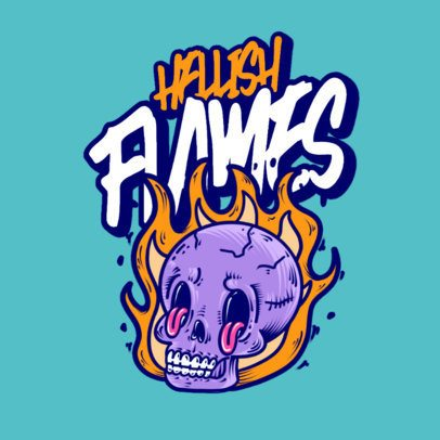 Logo Maker for a Streetwear Brand with a Burning Skull 3492j